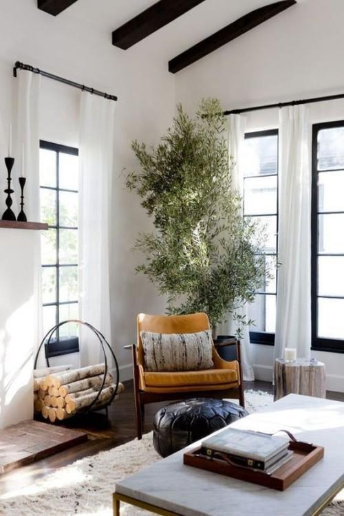 Mediterran wohnen schönes Wohnzimmer