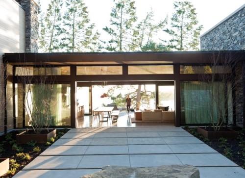 Minimalistisches Ferienhaus