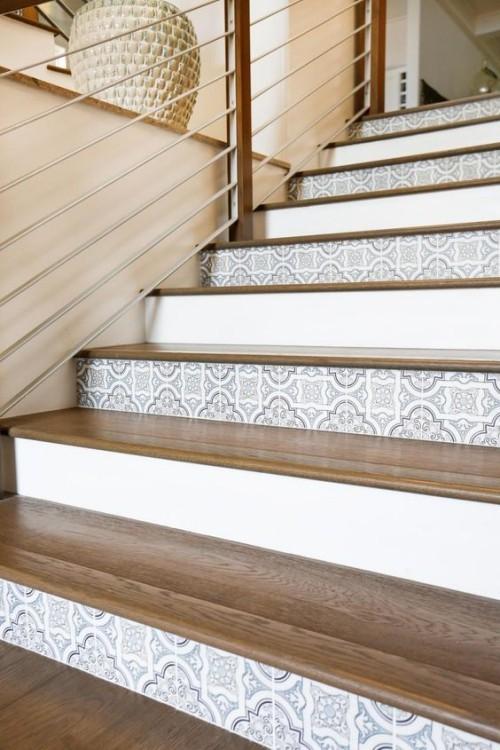 Mosaik Fliesen im Treppenhaus sehr ansprechend mediterran