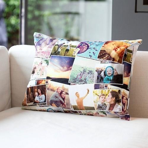 Spezielles Deko Kissen mit schönen Familienfotos gedruckt Geburtstagsgeschenke für Mama