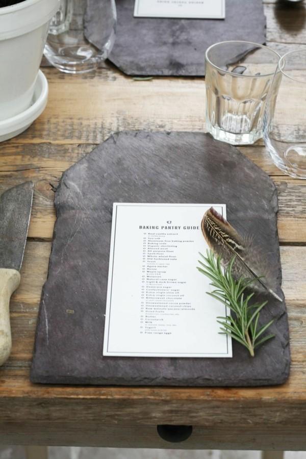 Tischdeko Ideen Tischordnung Platzordnung platzset platten