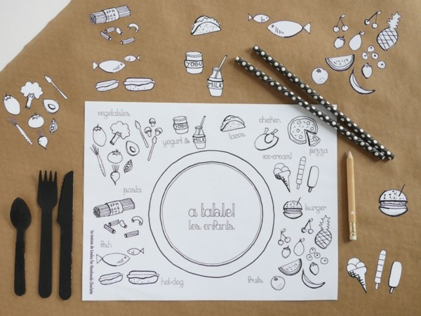 Tischdeko Ideen Tischordnung Platzordnung platzset yum ausmalen
