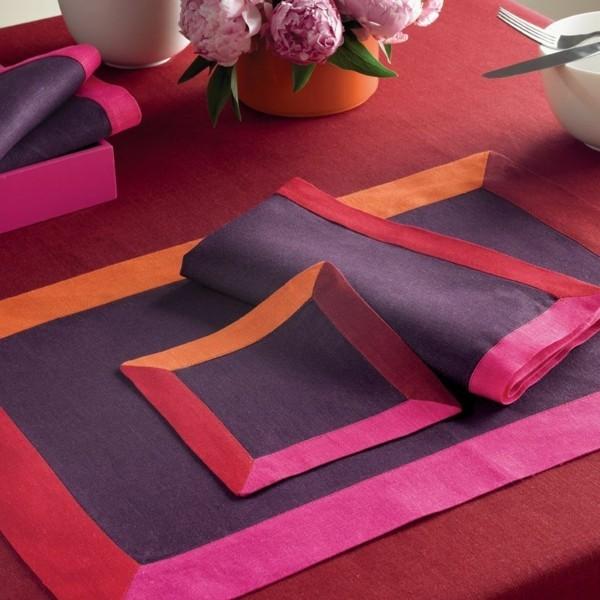 Tischdeko Ideen Tischordnung Platzordnung platzset zum ausmalen rot mit quasten individuelle farben