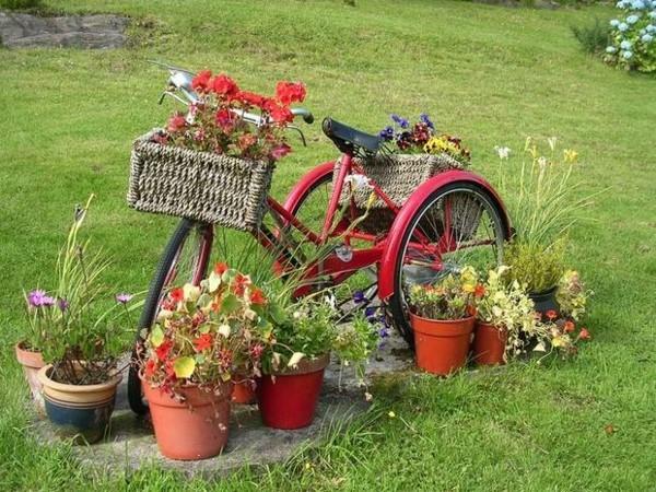 altes fahrrad sommerdeko