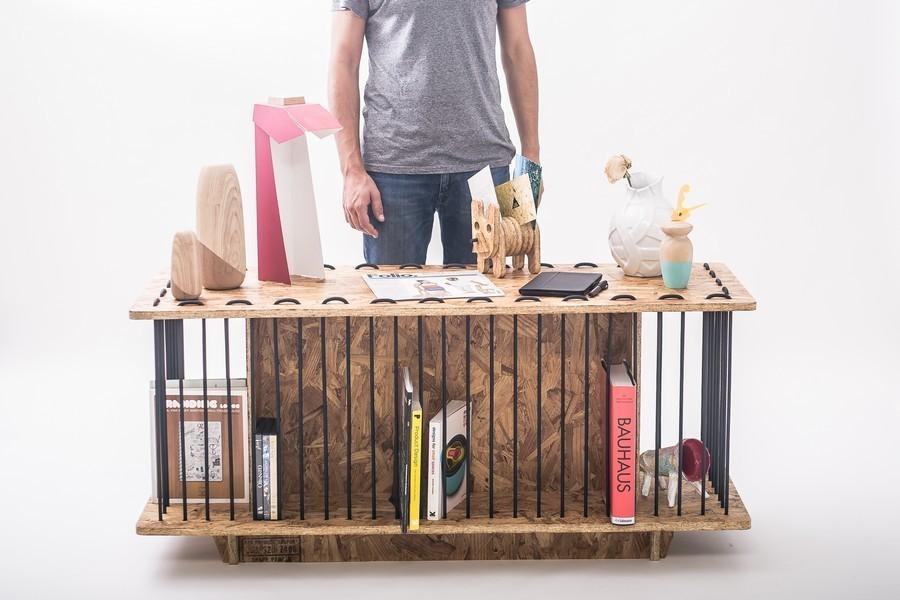 bücher im stauraum designer möbel