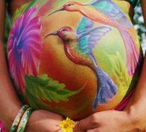 Babybauch bemalen- über 30 Fotoshooting Ideen und nützliche Tipps