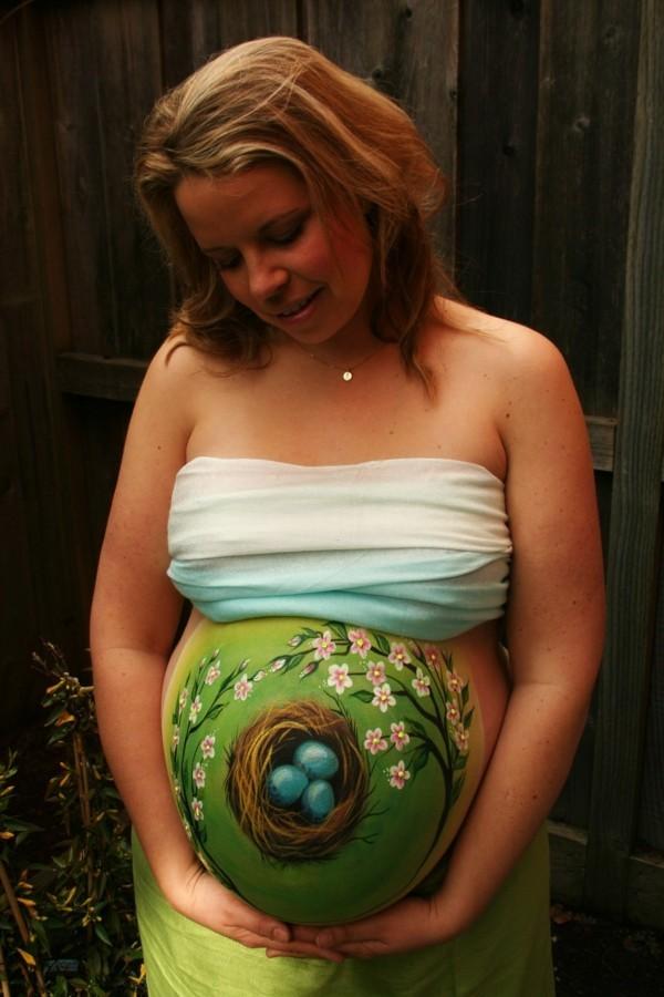 babybauch bemalen fotoshooting ideen schwanger