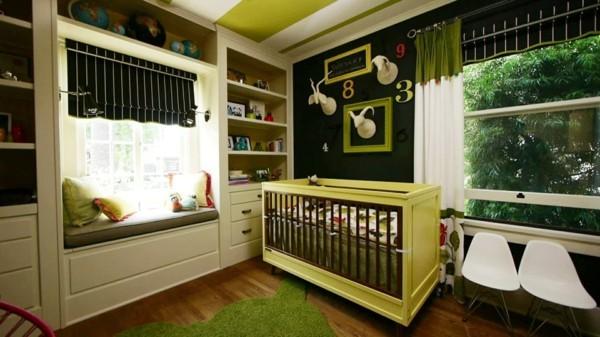 babyzimmer Deko Ideen FRISCHES GRUEN