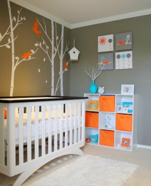 babyzimmer Deko Ideen bett zoo