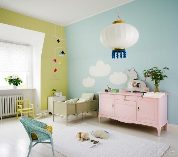 babyzimmer Deko Ideen bunte farben