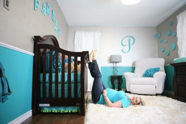 babyzimmer Deko Ideen bunte farben buchstaben