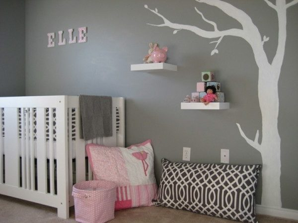 babyzimmer Deko Ideen farbenfroh maedchen