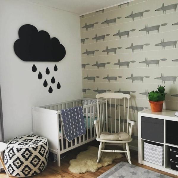 babyzimmer Deko Ideen grafikdesign