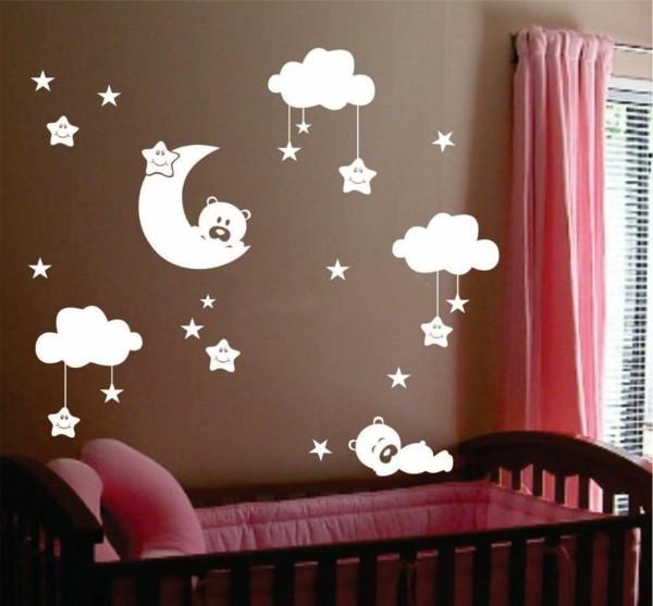 babyzimmer Deko Ideen grafikdesign wandsticker