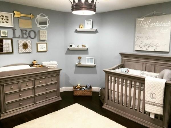 babyzimmer Deko Ideen klassisch braun
