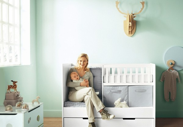 babyzimmer Deko Ideen praktisch
