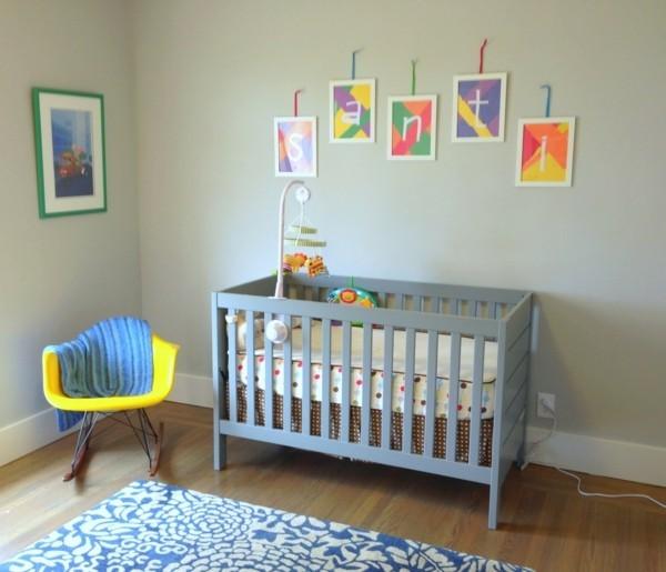 babyzimmer Deko Ideen puristisch