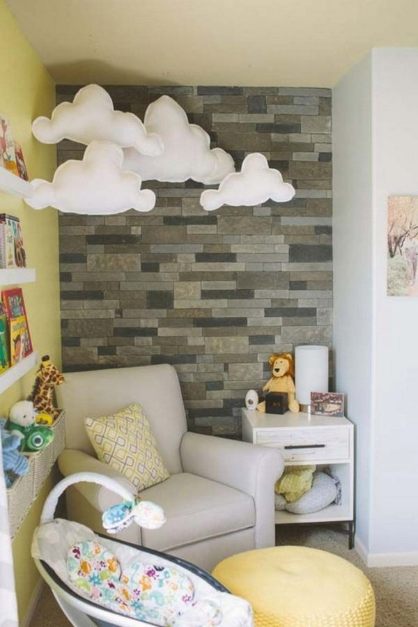 babyzimmer Deko Ideen wolken