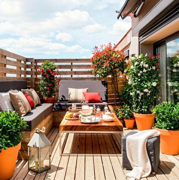 balkongestaltung einrichtungsideen balkon ideen palettenmoebel dinner