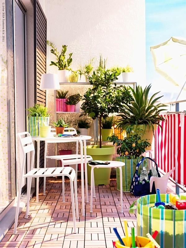 balkongestaltung einrichtungsideen balkon ideen palettenmoebel froehliche farben