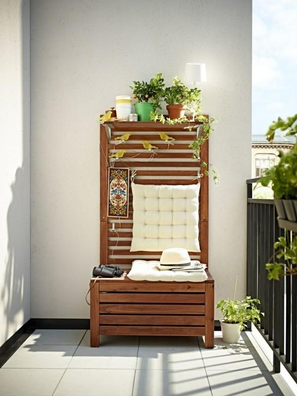balkongestaltung einrichtungsideen balkon ideen palettenmoebel platzsparende moebel