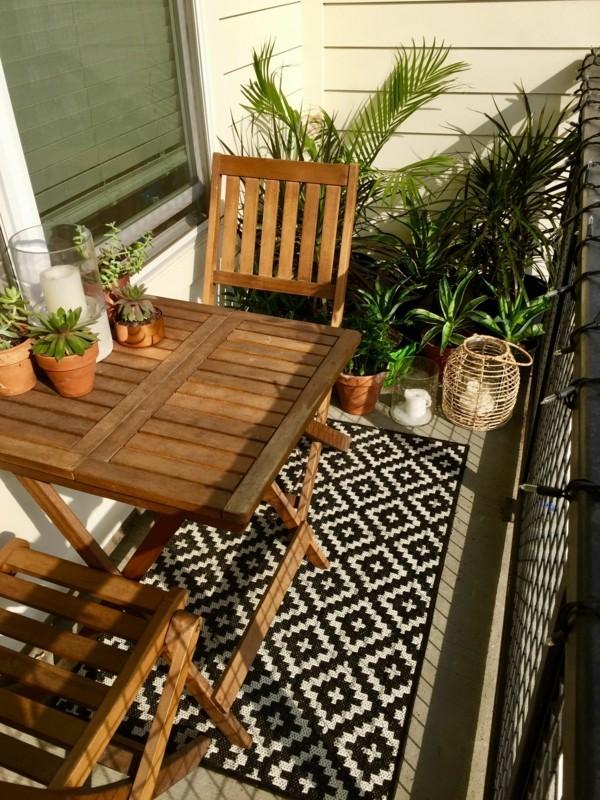 balkongestaltung einrichtungsideen balkon ideen palettenmoebel teppich