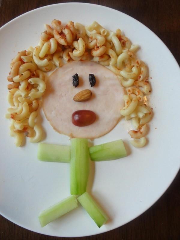 dekoideen basteln mit kindern teller anrichten snack