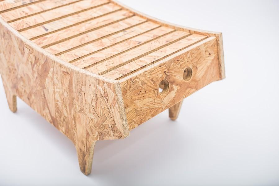designer möbel gewölbte oberfläche