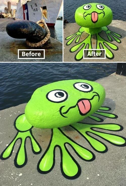 frosch idee street art
