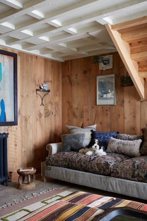 holzwände einrichtung wohnzimmer ideen