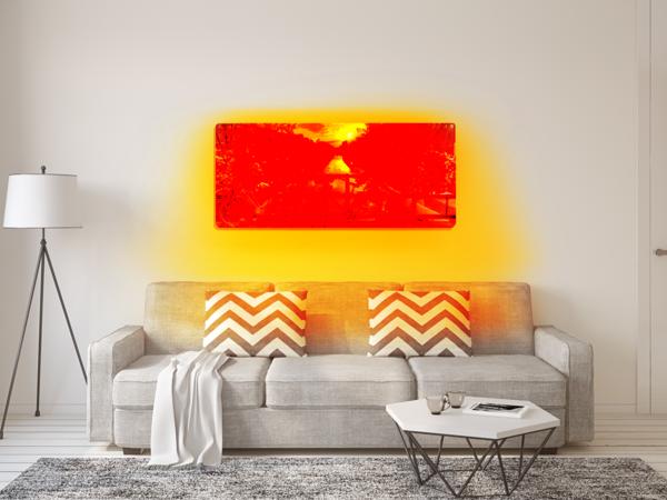 infrarotheizung wohnzimmer wanddeko