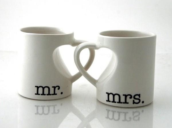 kaffeebecher hochzeitsgeschenk idee ausgefallene hochzeitsgeschenke