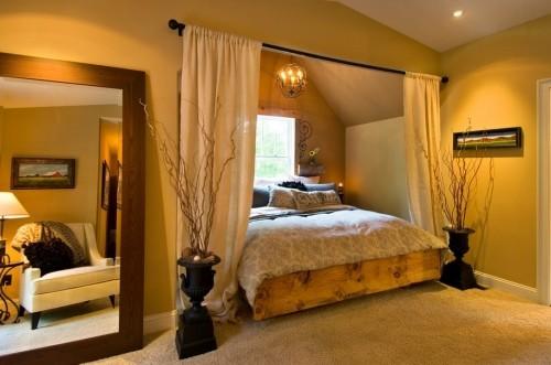 kleine schlafzimmer pflanzliche deko