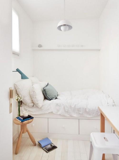 kleine schlafzimmer toller weißer raum