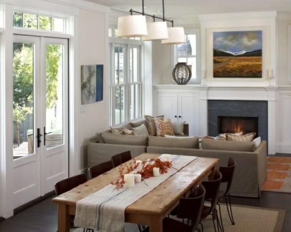 AuBergewohnlich Kleines Wohnzimmer Mit Essbereich Einrichten Ecksofa
