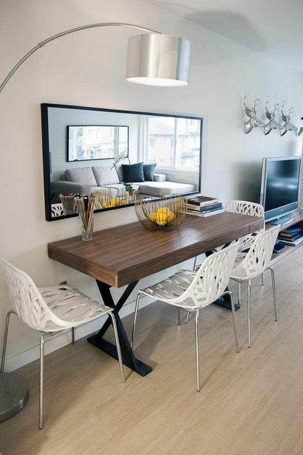kleines wohnzimmer mit essbereich einrichten schmall