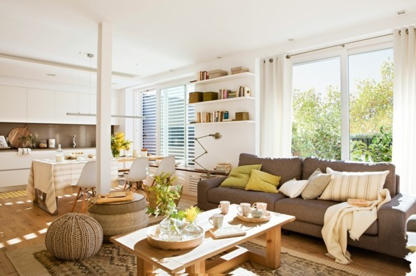 kleines wohnzimmer mit essbereich ideen