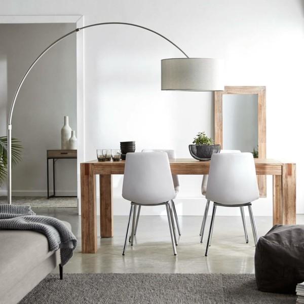 AuBergewohnlich Kleines Wohnzimmer Mit Esstisch Und Bogenlampe