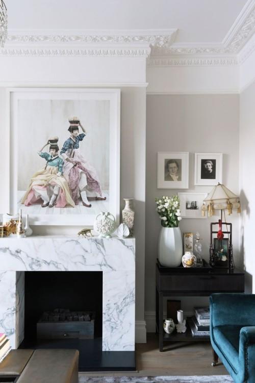 moderne und klassische elemente wohnzimmer ideen