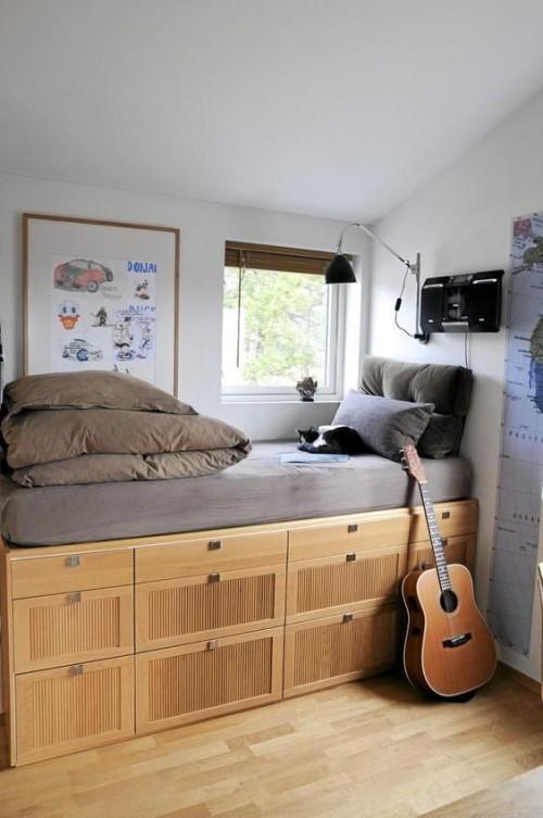 schubladen aus holz kleine schlafzimmer