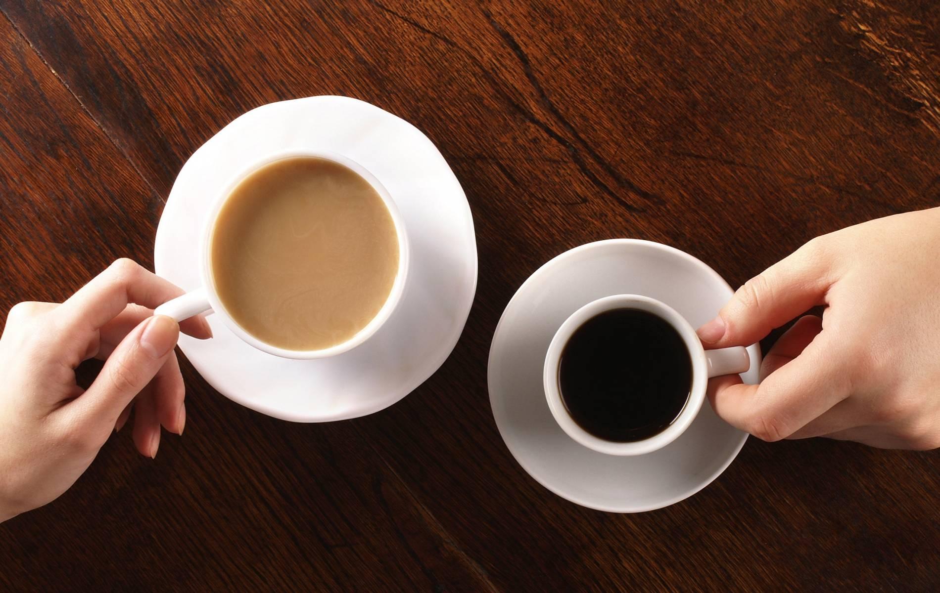 schwarzer tee und kaffee idee
