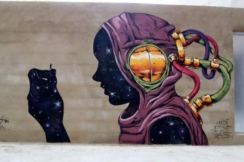 sci fi street art