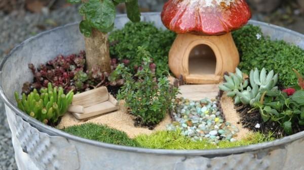 sommerdeko minigarten gestalten