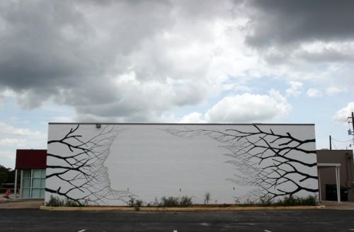 street art herbstliches motiv