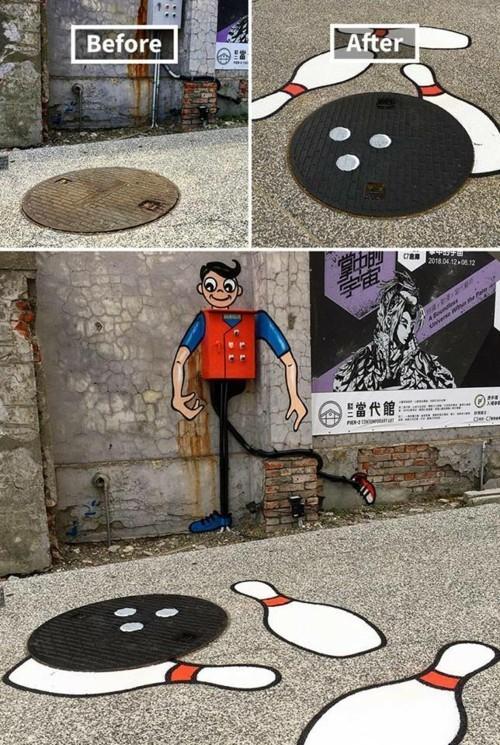 street art kegel idee