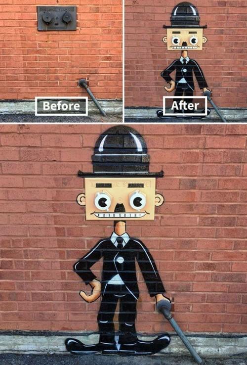 tanzende figur street art