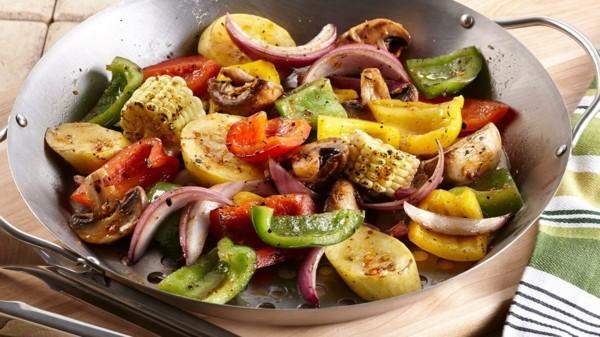 tolles gemüse am grill gesunde lebensmittel