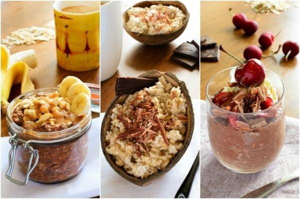 verschiedene desserts gesunde lebensmittel
