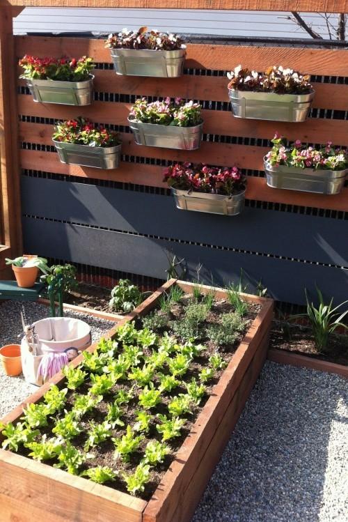 vertikaler Garten horizontal Gemüse anbauen