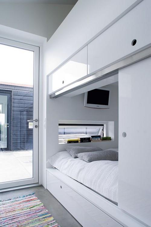 weiße raum gestaltung kleine schlafzimmer